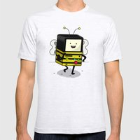 BEE-MO Mens Fitted Tee Ash Grey SMALL