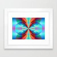 Circle Point Framed Art Print