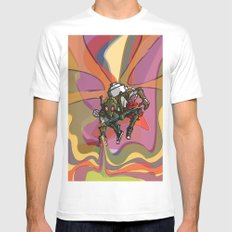 Brushmask Mens Fitted Tee White SMALL
