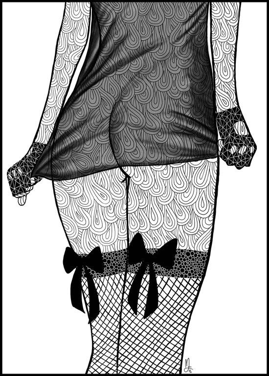 La femme_06 Art Print