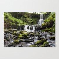 Blaen-y-glyn Waterfall 4 Canvas Print