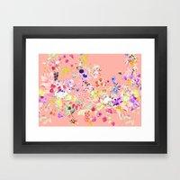 Soft bunnies pink Framed Art Print