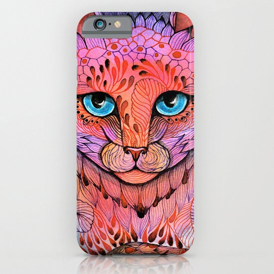SUNSET CAT iPhone & iPod Case