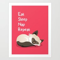Cat's Life Art Print