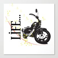 Motorcycle lifestyle  Canvas Print