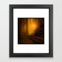 The Forest (4:33am) Framed Art Print