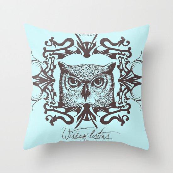 Wisdom Listens Throw Pillow