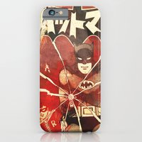 iPhone Cases featuring Bat Man (Manga) by Fernando Vieira