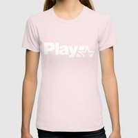 Play Womens Fitted Tee Light Pink SMALL