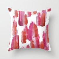 Pink Mood Throw Pillow