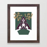 DEERHORN Framed Art Print
