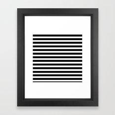 Black and white line Framed Art Print