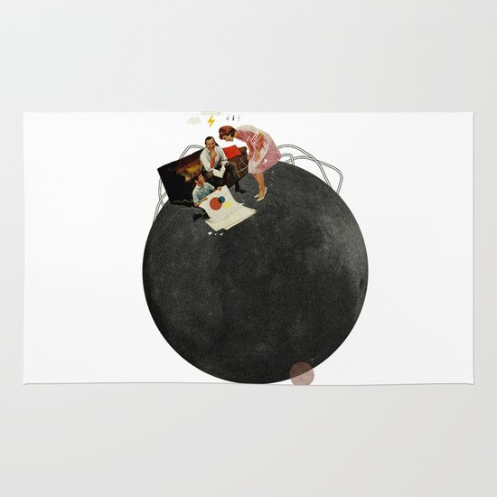 Life on Earth  | Collage | White Area & Throw Rug
