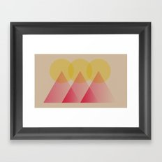 Mountains and Suns Framed Art Print