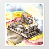 Vintage gadget series: Polaroid SX-70 Model 3 Land Camera Canvas Print