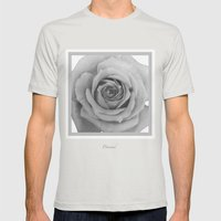 Drained  Mens Fitted Tee Silver SMALL