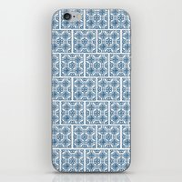 Blue Tile Pattern No. 3 iPhone & iPod Skin