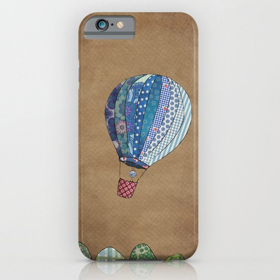 Blue hot air balloon iPhone & iPod Case