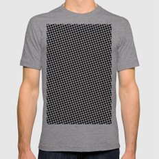 BLACK DOT Mens Fitted Tee Athletic Grey SMALL