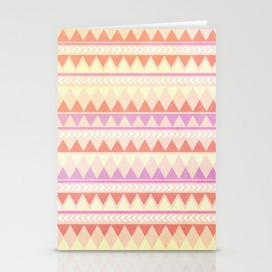 Summer Aztec Pattern Stationery Card