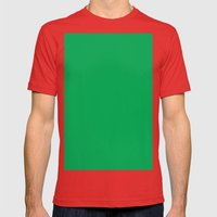 Green (pigment) Mens Fitted Tee Red SMALL