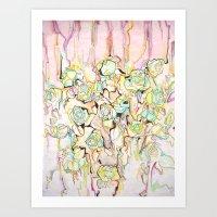War of Roses Art Print