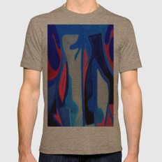 Collage Mens Fitted Tee Tri-Coffee SMALL