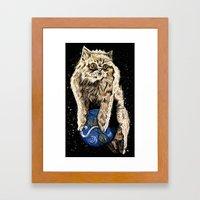 Floyd The Lion Framed Art Print