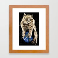 Floyd The Lion Framed Art Print