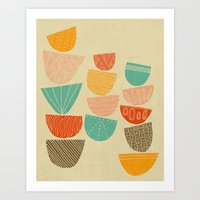 Art Print featuring Stacks by Monica Gifford