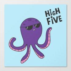 High Five Octopus Canvas Print
