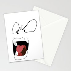Angry woman Stationery Cards