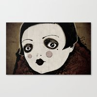 Canvas Print featuring wall-eyed by Le Butthead