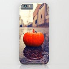 Rainy day pumpkin iPhone 6s Slim Case