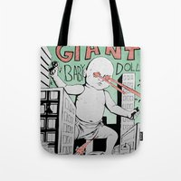 Attack of the Giant Baby Doll Tote Bag