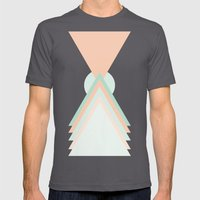 Icosahedron Mens Fitted Tee Asphalt SMALL