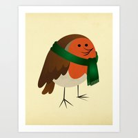 The Robin's new scarf Art Print