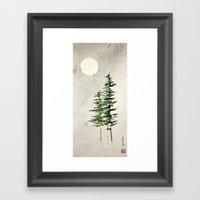 Midnight Pines Framed Art Print