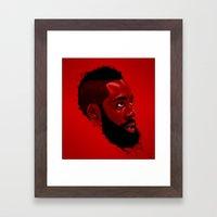 James Harden: Redbeard Edition Framed Art Print