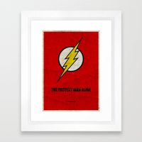 Flash (Super Minimalist … Framed Art Print
