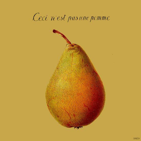 Ceci n'est pas une pomme  Art Print