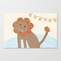 Lion Collage Canvas Print