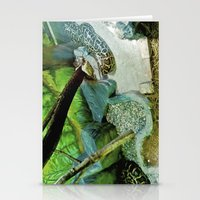 Green creepy. Stationery Cards