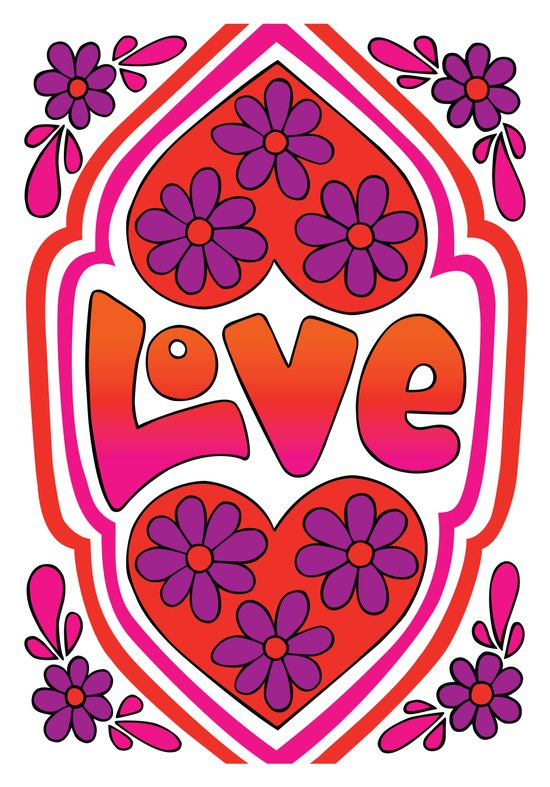 Psychedelic Love Art Print