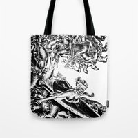 Surfing on Childhood Tote Bag
