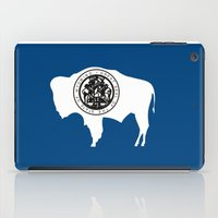 wyoming state flag united states of america country iPad Case