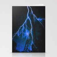 Blue Lightning Stationery Cards