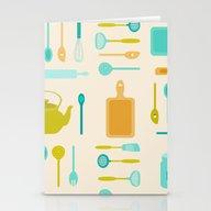 AFE Kitchen Utensils Stationery Cards