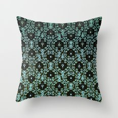 BOHO PAISLEY IN MINT Throw Pillow