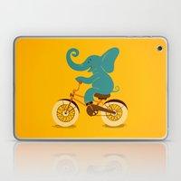 Elephant on the bike Laptop & iPad Skin